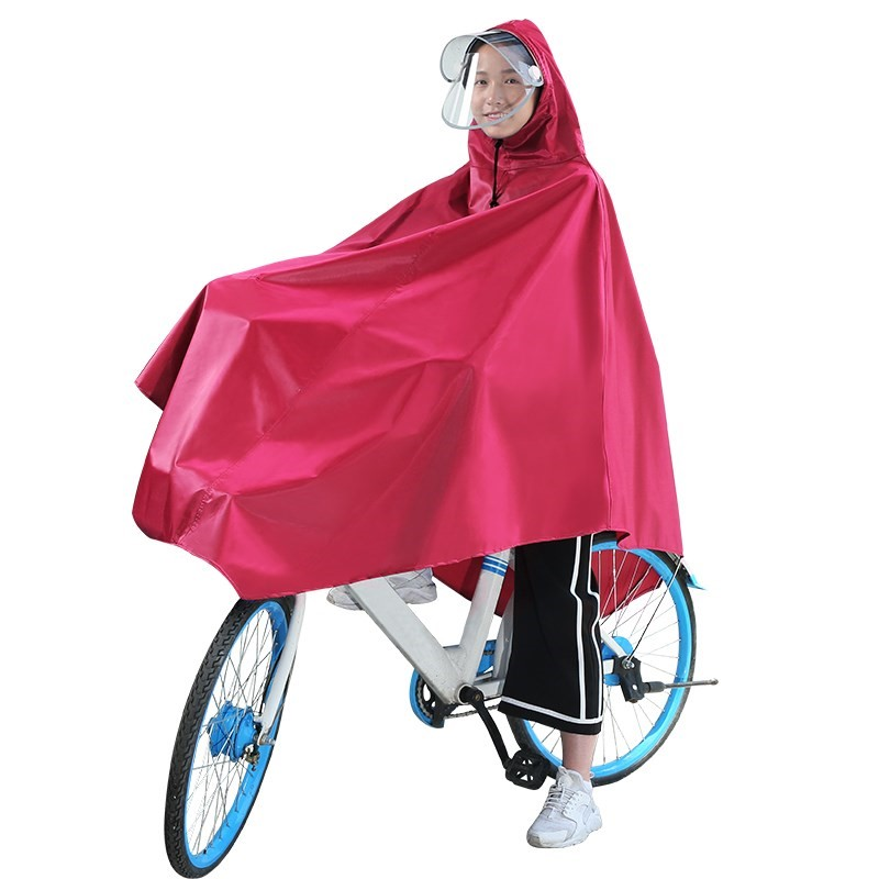 Electric bicycle raincoat single men and women cycling middle school students mountain bike poncho