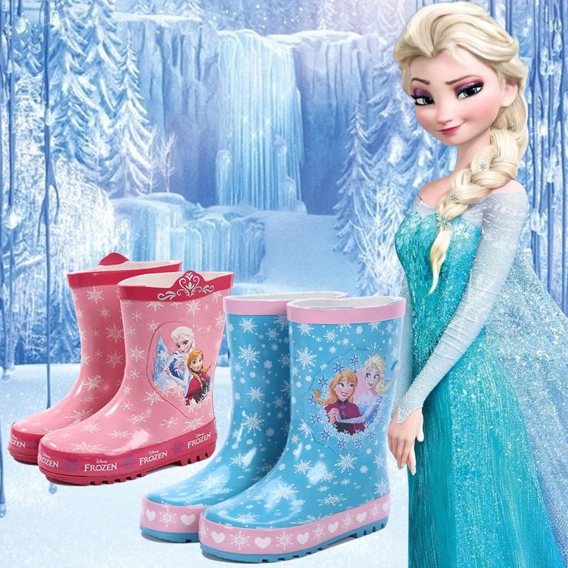 儿童雨鞋卡通公主宝宝雨靴夏季防滑轻便男女童水鞋小孩雨靴