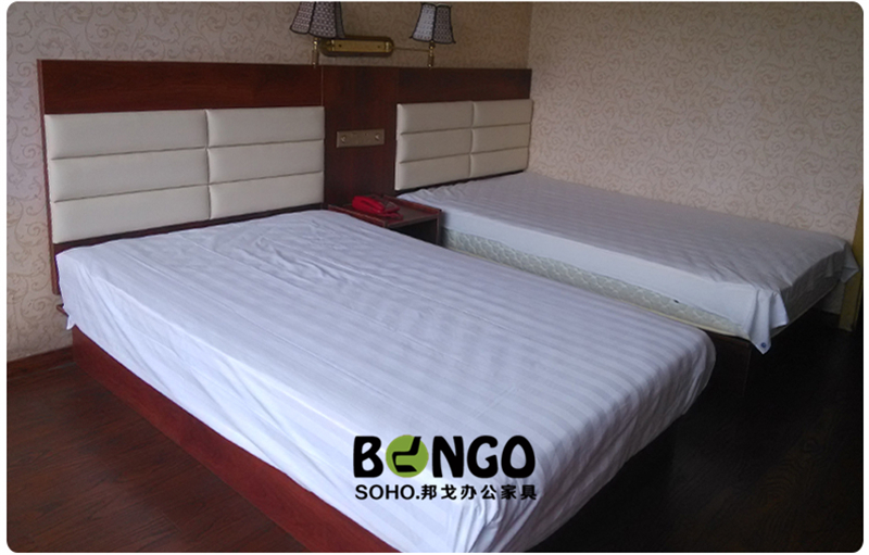 A complete set of professional hotel furniture can be customized standard bed single suite single apartment bed box rack wardrobe
