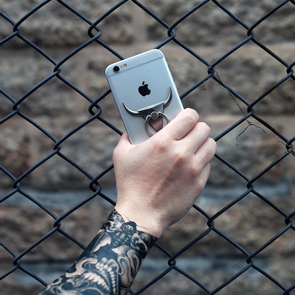 Хвост ичибан |bcase все металлические бык мобильный телефон кольцо стоять может повторение палка стойкость к осыпанию подставка для мобильного телефона