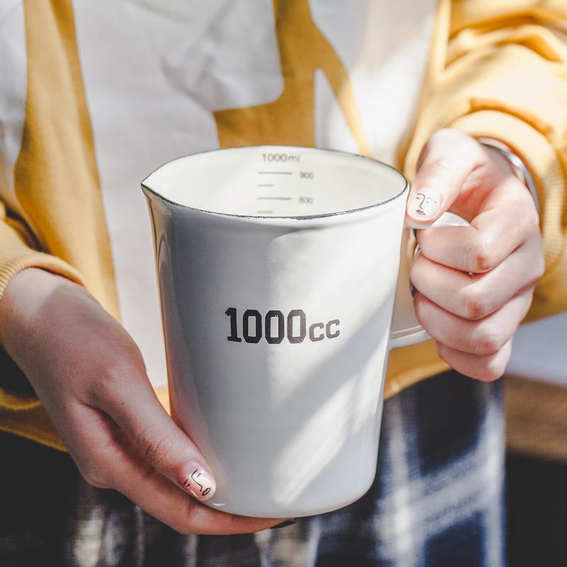 Дерево может эмаль эмаль выпускник с весы гирлянда чашка молоко бак кофе молоко пузырь чашка выход япония