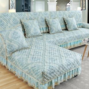 欧式沙发垫四季通用布艺防滑简约现代坐垫子全包萬能沙发套罩全盖