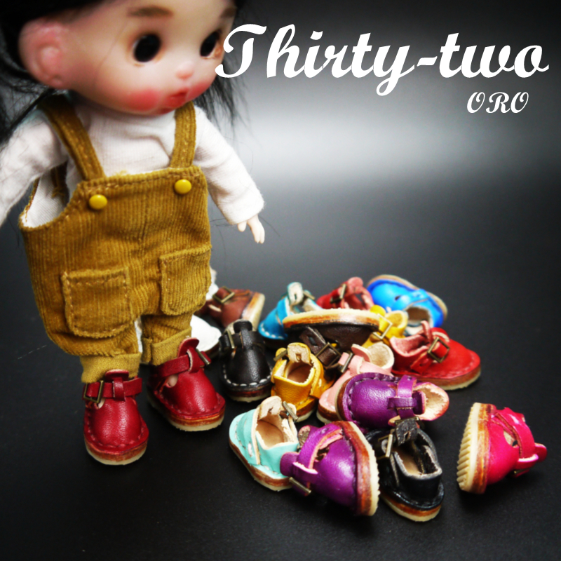 Ob11 Baby Shoes 8 points BJD baby shoes doll shoes handmade head layer vegetable tanned leather Leather Mini Leather shoes