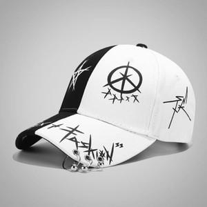 帽子男潮流韩版潮牌棒球帽学生休闲百搭嘻哈帽街头个性黑白鸭舌帽