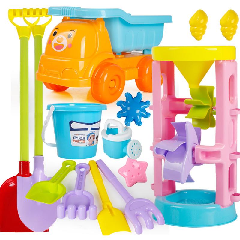买三送一儿童沙滩玩具套装车女孩宝宝玩沙子