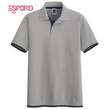 假两件双层袖口撞色POLO衫男短袖青中年翻领T恤潮男爸爸装保罗衫