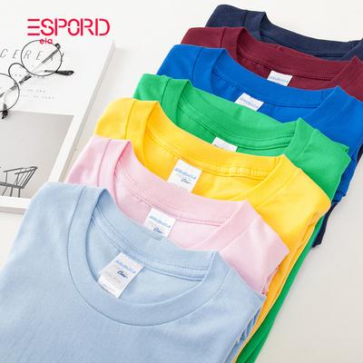 日系纯棉素色T恤男女短袖圆领打底衫纯色小清新男生白色基础t恤衫