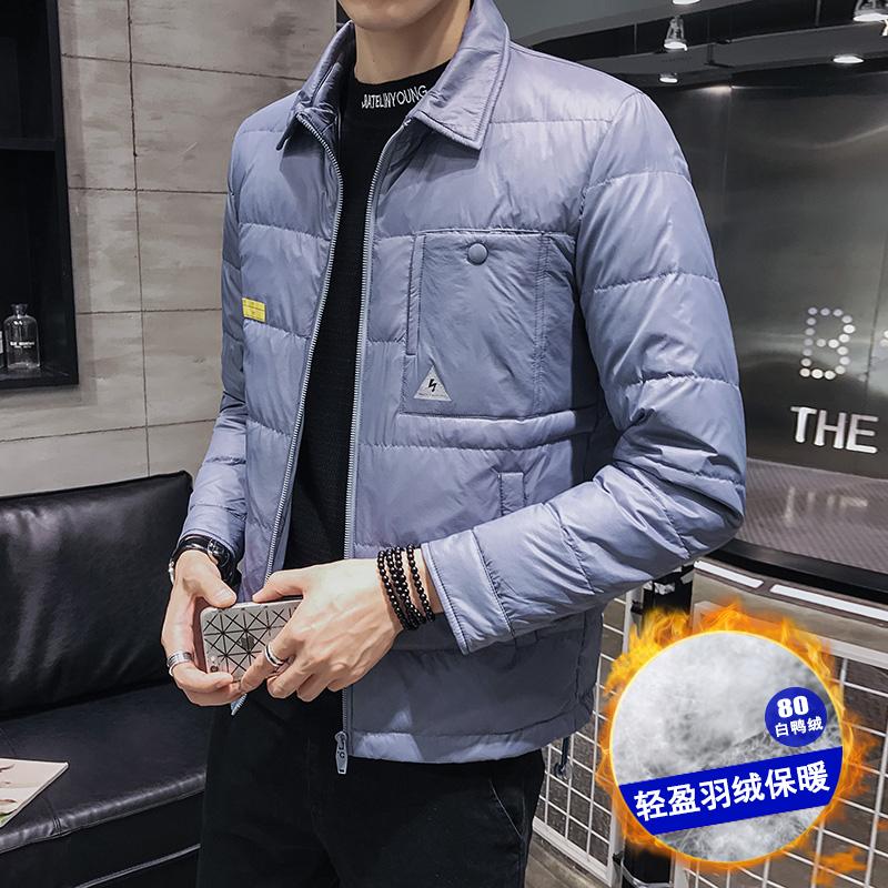 80%白鸭绒 冬季潮流韩版翻领羽绒衬衫外套羽绒服 YR31P175