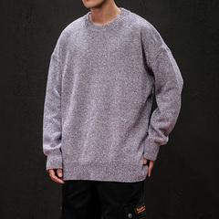 日系黑墙 冬季潮男加厚打底衫针织衫 提花圆领毛衣 M828P65
