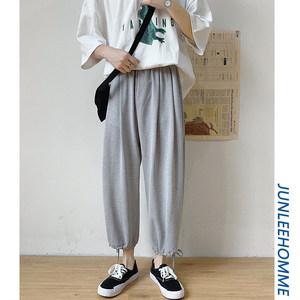 子俊男装新款百搭纯色透气休闲裤子