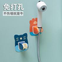 免打孔固定座淋浴喷头通用可调节挂花洒吸盘支架莲蓬头浴室器配件