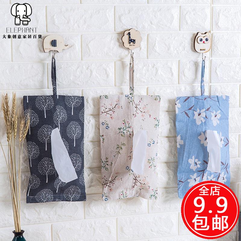 Ткань бумажные полотенца крышка бумажные полотенца висит сумка насосные мешок домой простой льняная ткань бумажные полотенца мешок насосные коробка бумажные полотенца пакет ткань