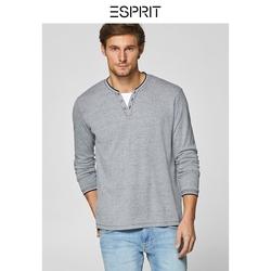 长袖t恤男韩版宽松休闲上衣男装春新款商场同款ESPRIT-128EE2K027