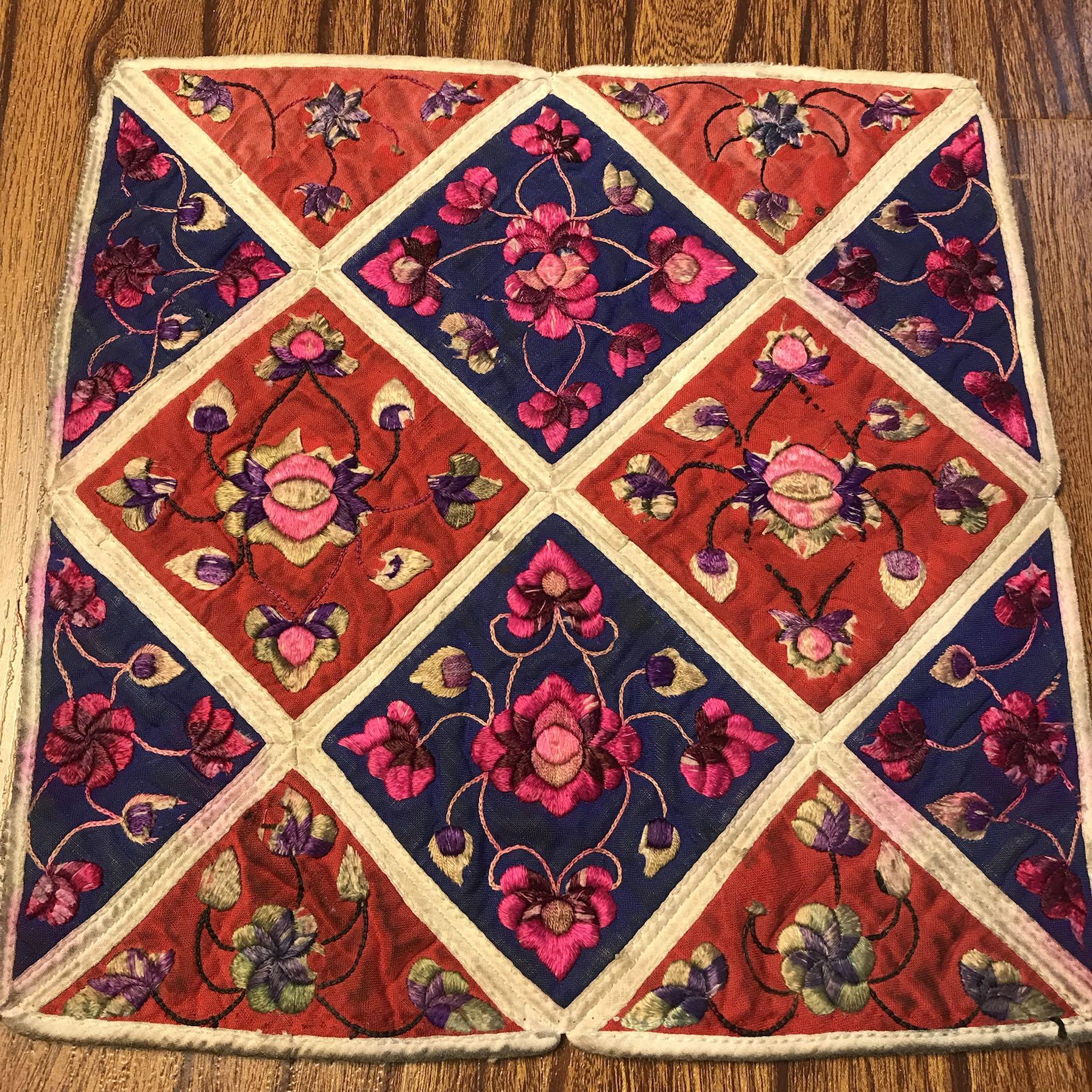 手工老绣加工包包衣服 好重新利用的老绣加工原料绣片 刺绣绣花