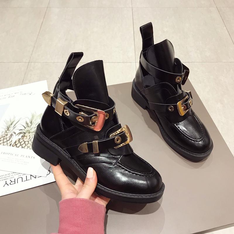 镂空马丁靴夏季透气时尚短靴夏天百搭洋气鞋子女2020潮鞋透气单鞋