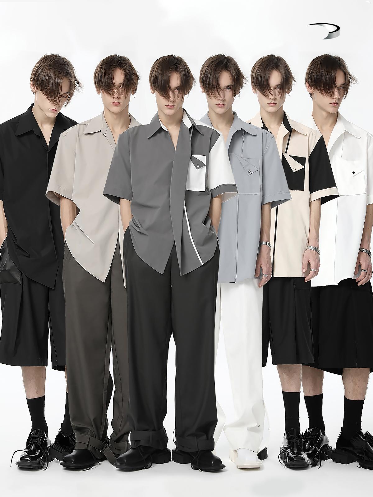 "TiwillTang启世录- ""constant"" 米卡同款 立体门襟双袋结构衬衫"