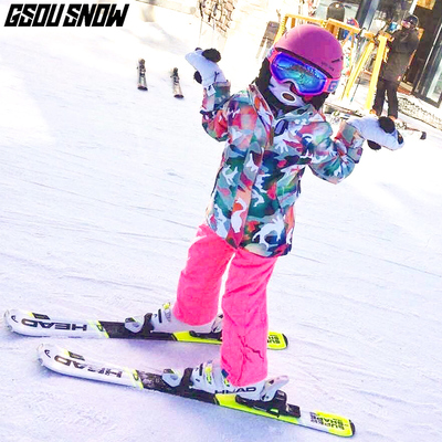 [Clearance] GsouSnow children's ski clothes for boys and girls outdoor ski pants suit thickening warm and windproof