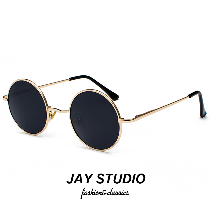 Round frame sunglasses retro hip hop Hong Kong Style 2020 new fashion male Polarized Sunglasses female ins net Red Prince mirror