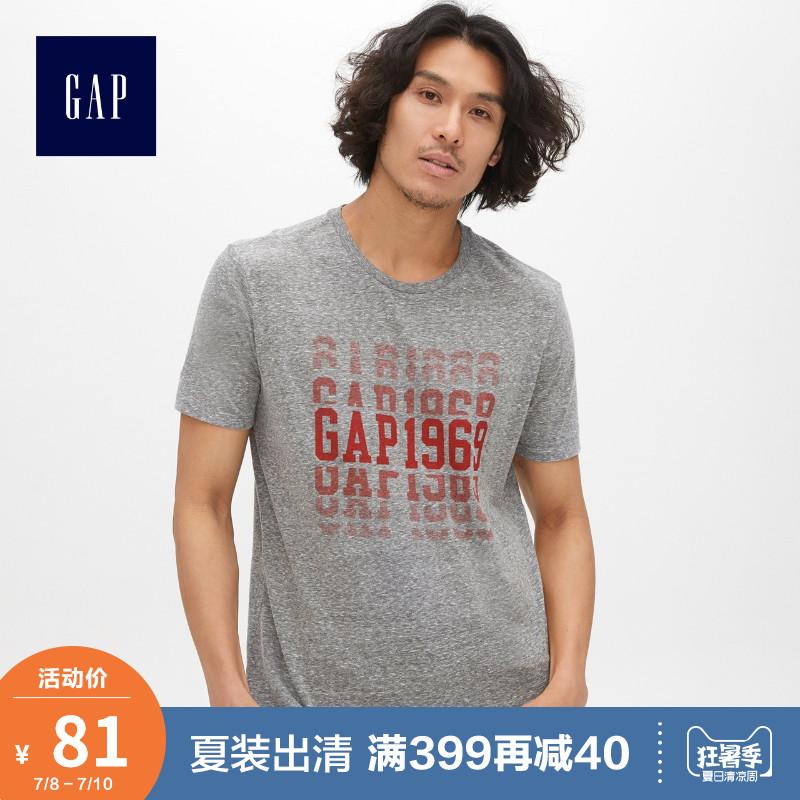 Gap男装短袖T恤打底衫夏季435869 E 2019新款男士美式logo上衣潮