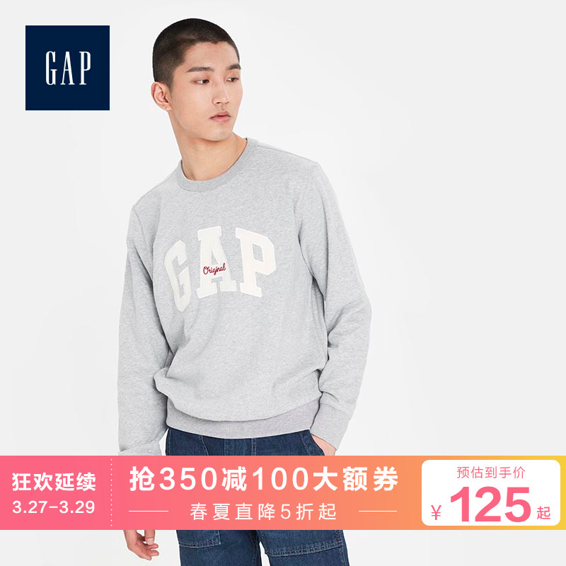 Gap men's casual Pullover Sweater spring 5678722020 new LOGO printed top soft series