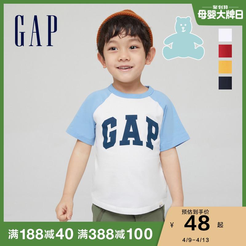 【布莱纳】Gap男幼童短袖T恤545582 夏季新款童装洋气纯棉上衣