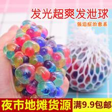 新款解压发泄球闪光夜市地摊摆摊货源儿童创意小的发光玩具批发