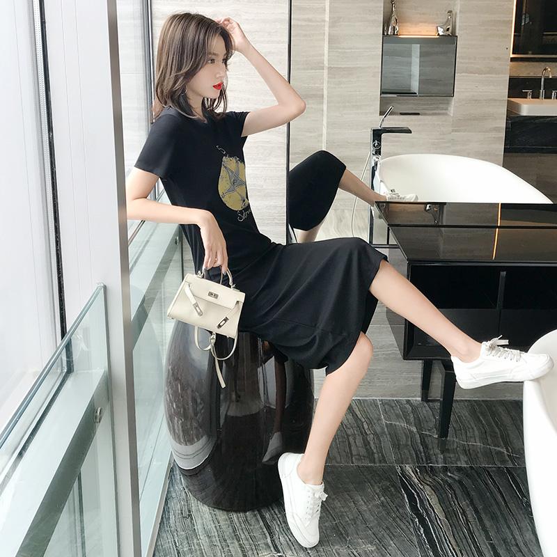 券后89.00元2019夏季新款简约中长裙韩版连衣裙