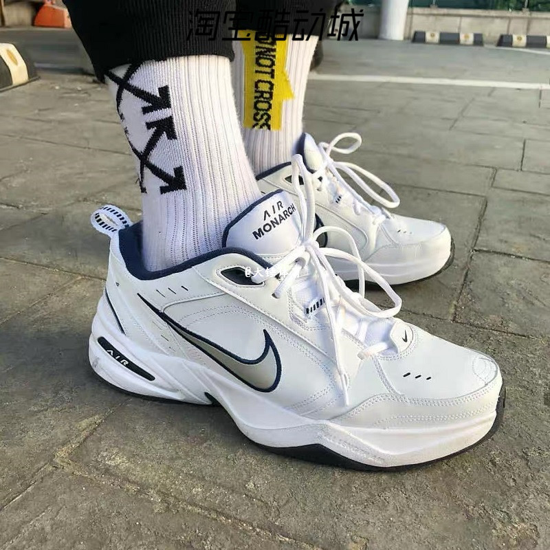 Nike Air Monarch M2K黑白蓝复古厚底增高老爹鞋跑步鞋415445-102