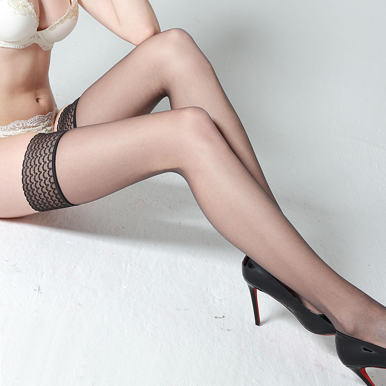 0d丝袜女薄款黑丝透明超薄性感丝袜到大腿根职业装长筒袜高筒吊带