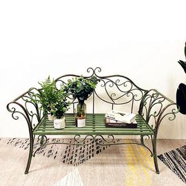 欧式双人椅花园椅铁艺椅户外休闲座椅公园长椅条椅庭院椅子公园椅