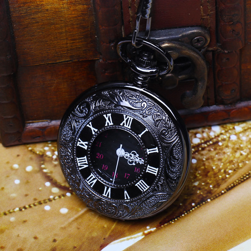 Necklace accessories lovers student quartz non mechanical watch womens fashion pocket watch mens and womens drawing test