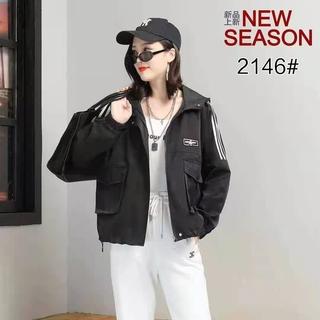 2021年春秋新款短外套小个子休闲洋气风衣开衫韩版宽松女装夹克