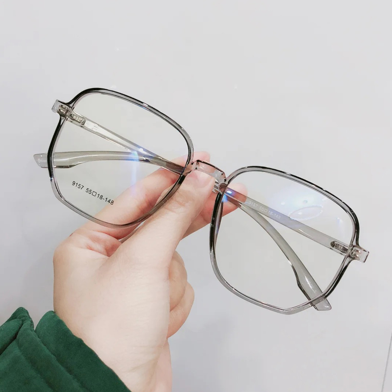 Anti radiation glasses mobile phone computer goggles face small flat lens anti blue glasses female Korean version can be equipped with degrees