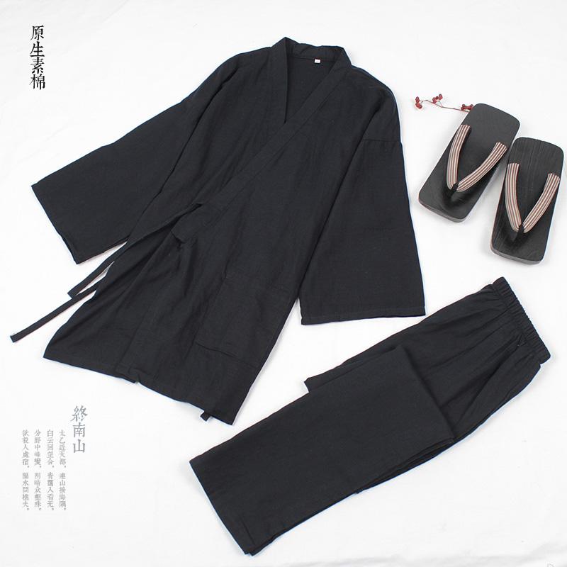 包邮夏秋男女纯棉睡衣坐禅服饰日本和服日式家居服套装和风日系