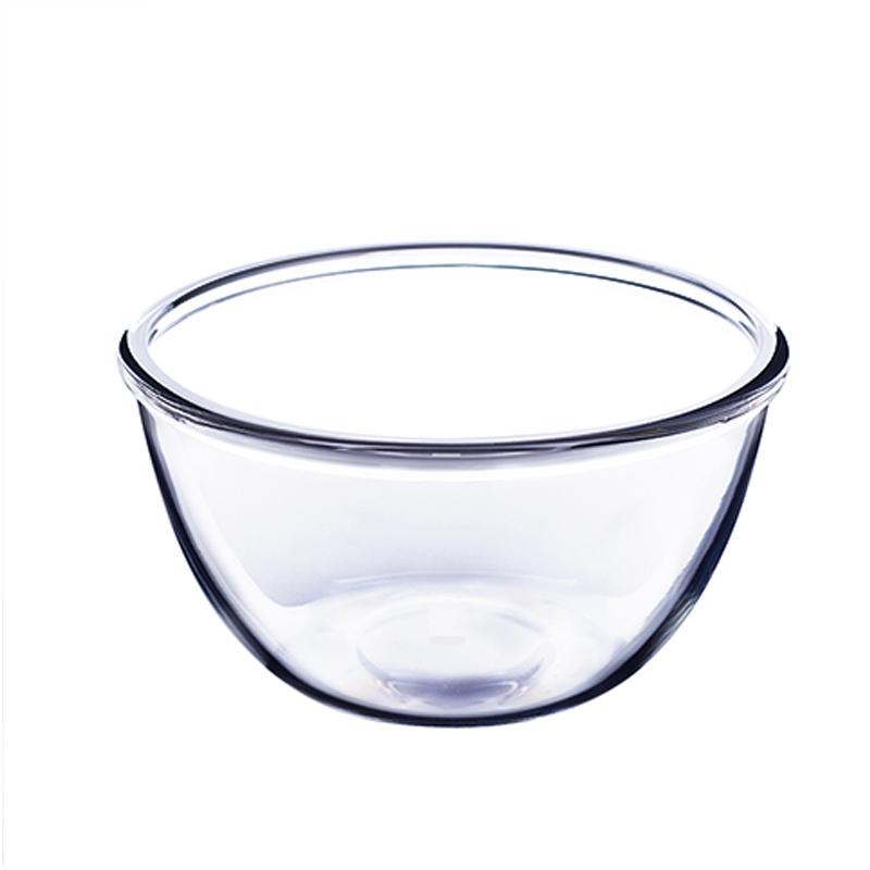乐美雅打蛋盆进口钢化玻璃碗加深厚厨房揉和面盆大号耐热烘焙家用