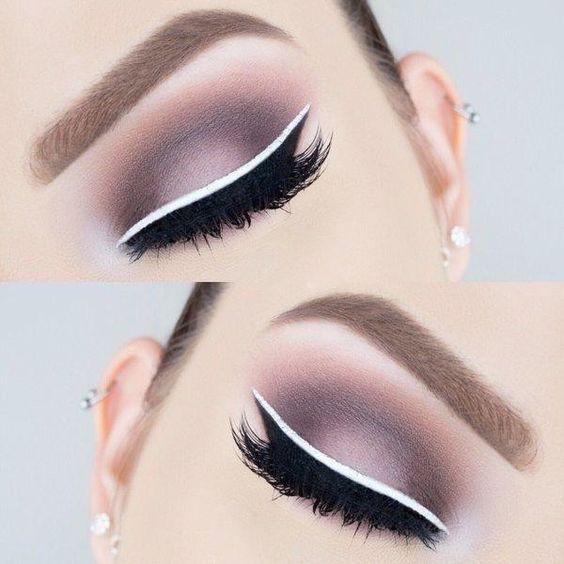 Pure white eyeliner, coloured eyeliner, eyebrow cream, matte waterproof, no dizzy eye liner cos