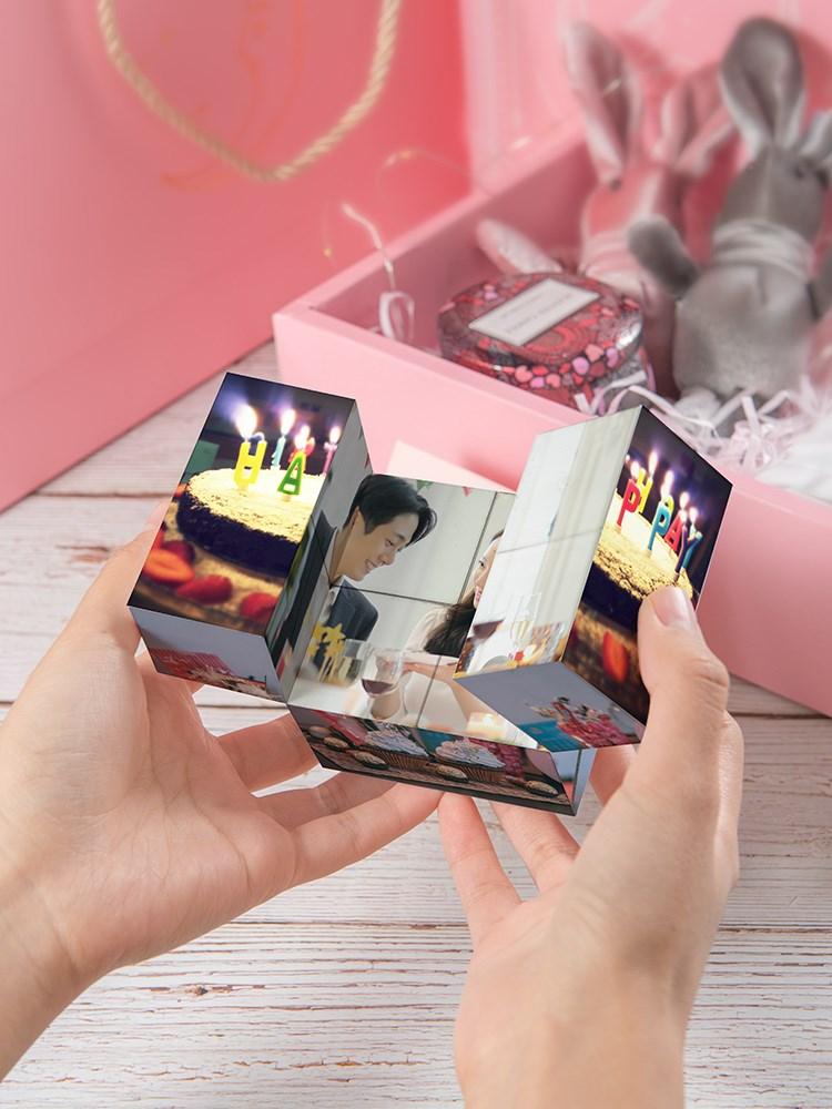 无线魔方相册定制 送男友女生七夕情人节创意闺蜜特别的生日礼物(用1元券)