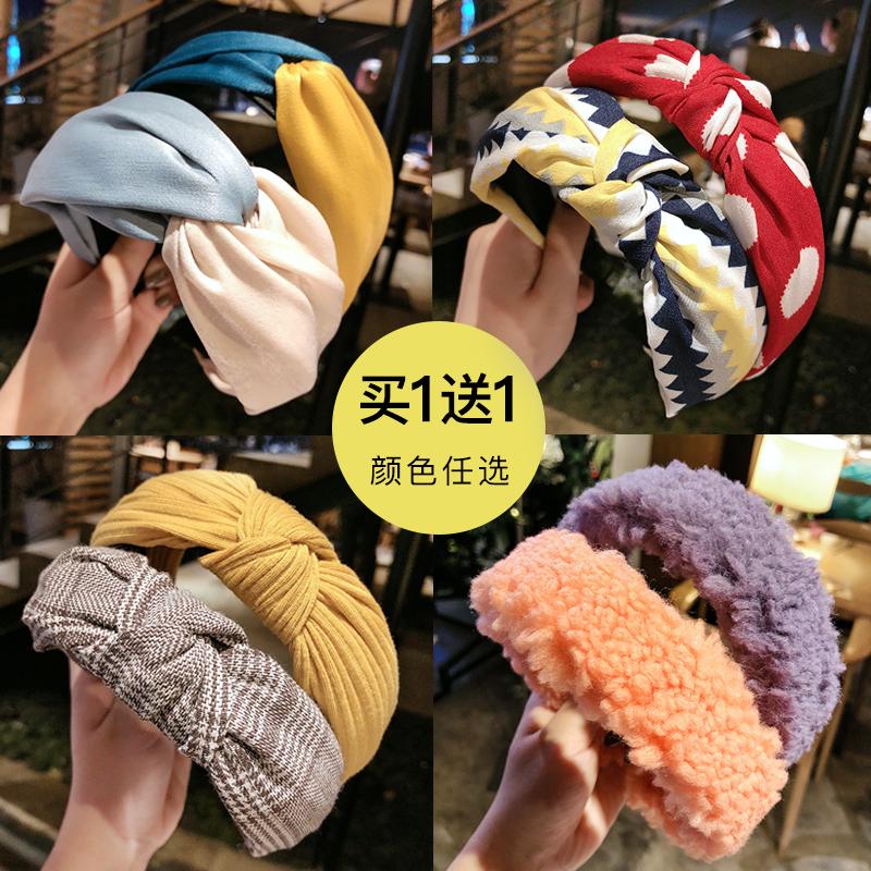 發帶女網紅日常外戴秋冬外出洗臉發箍韓國可愛頭箍壓發防滑頭飾