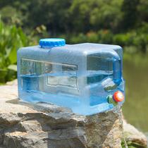 户外纯净水桶带水龙头矿泉水桶车载食品级家用饮水桶PC塑料储水箱