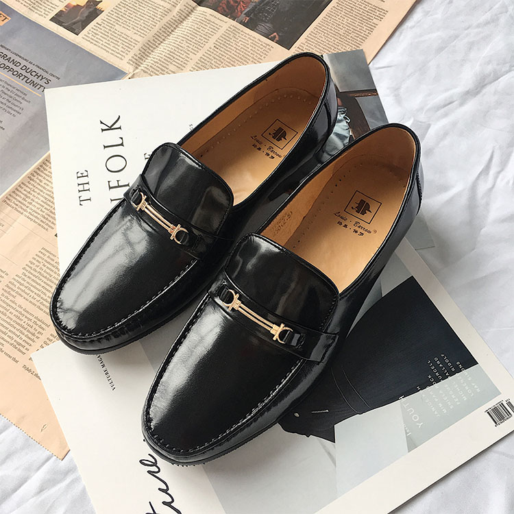 Louis Paul 2018 spring and autumn mens shoes business leather sheepskin low top shoes mens shoes Korean fashion shoes