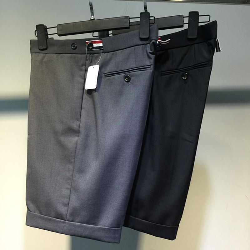 夏季TB西装短裤男薄款 GD同款thom织带欧美商务五分休闲西裤大码