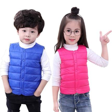 秋冬新款兒童棉背心中小童可愛卡通男童女童棉馬甲