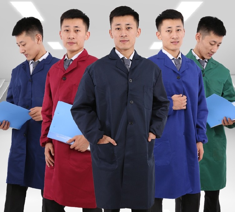 Dust proof work clothes long coat mens labor protection clothes clothes for warehouse workshop