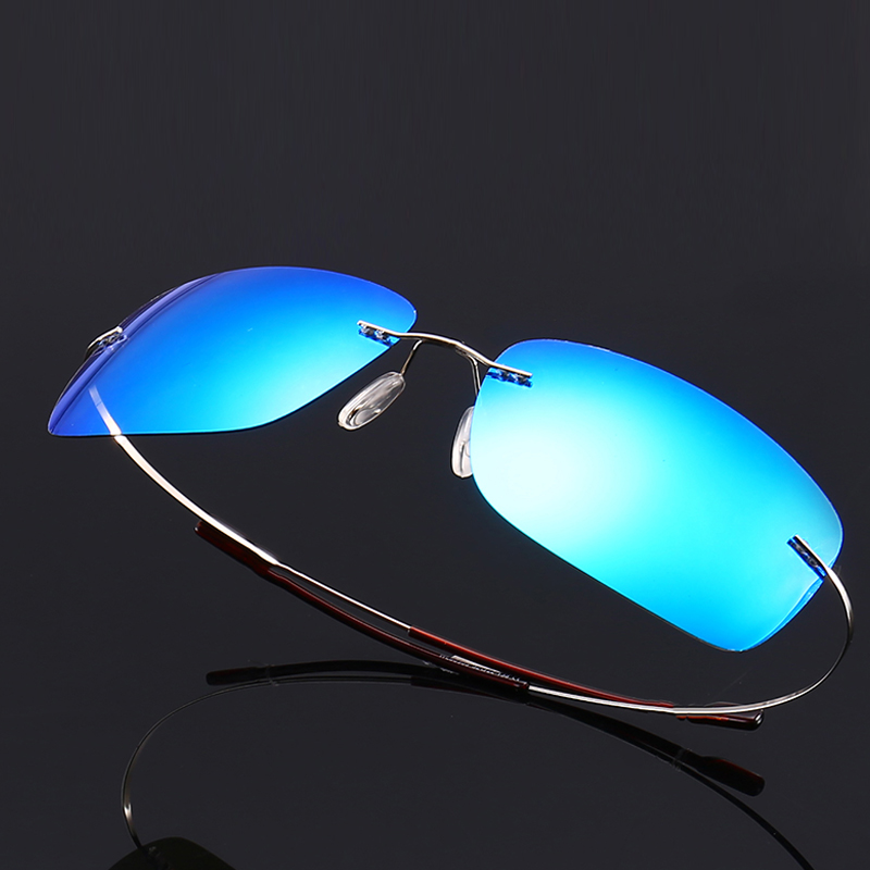 Frameless ultra light color film polarizing sunglasses personality Pilot Sunglasses driver driving male and female toad glasses