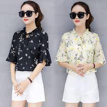 修身短袖t35女装上衣2019春夏季大码妈妈T恤雪纺衫20-25-30岁妇女