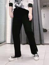 210斤修身侧开叉牛仔裤大长腿显瘦百搭简约款hello胖妞特大码女装