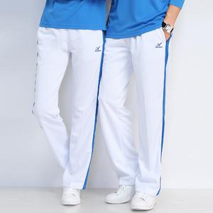 中国梦之队运动服春秋夏季长裤子男女速干健身跳操宽松白色裤子