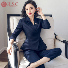 2019 new professional fashion suit suit women's slim work clothes ol temperament suit formal women's suit