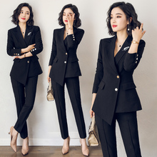 AI Shangchen suit women 2019 new fashion slim British women professional dress ol suit formal dress interview