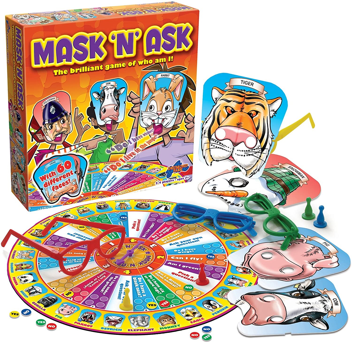 Mask n ask board game family parent child interaction mask man guess who I am